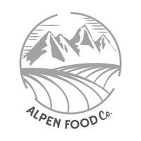 Alpen Food Co logo black and white